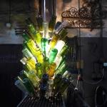 Flaschentrockner mit Flaschen