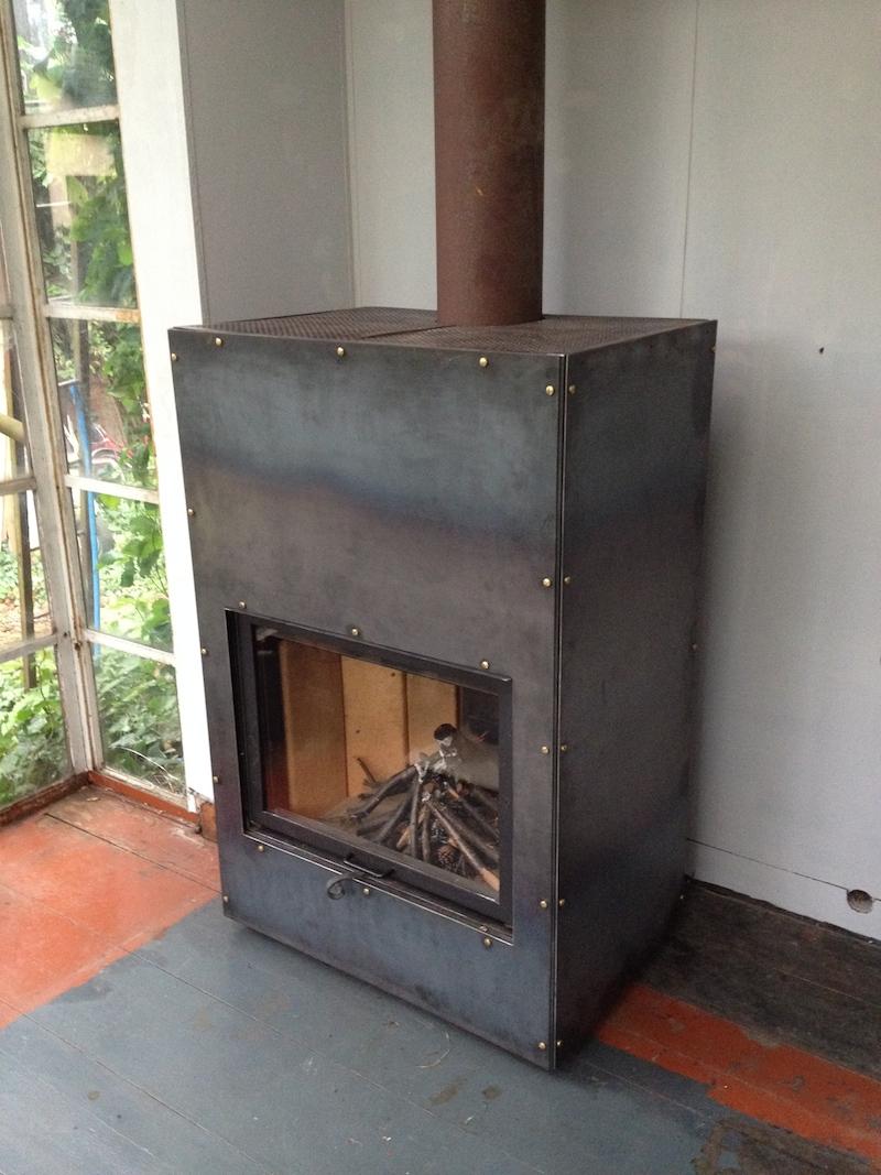 kaminofen k hn design metall. Black Bedroom Furniture Sets. Home Design Ideas